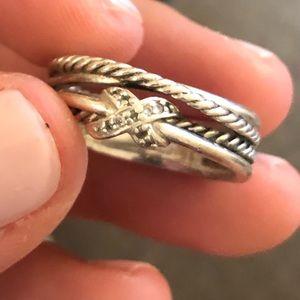 David Yurman Jewelry - David Yurman x crossover ring with diamonds